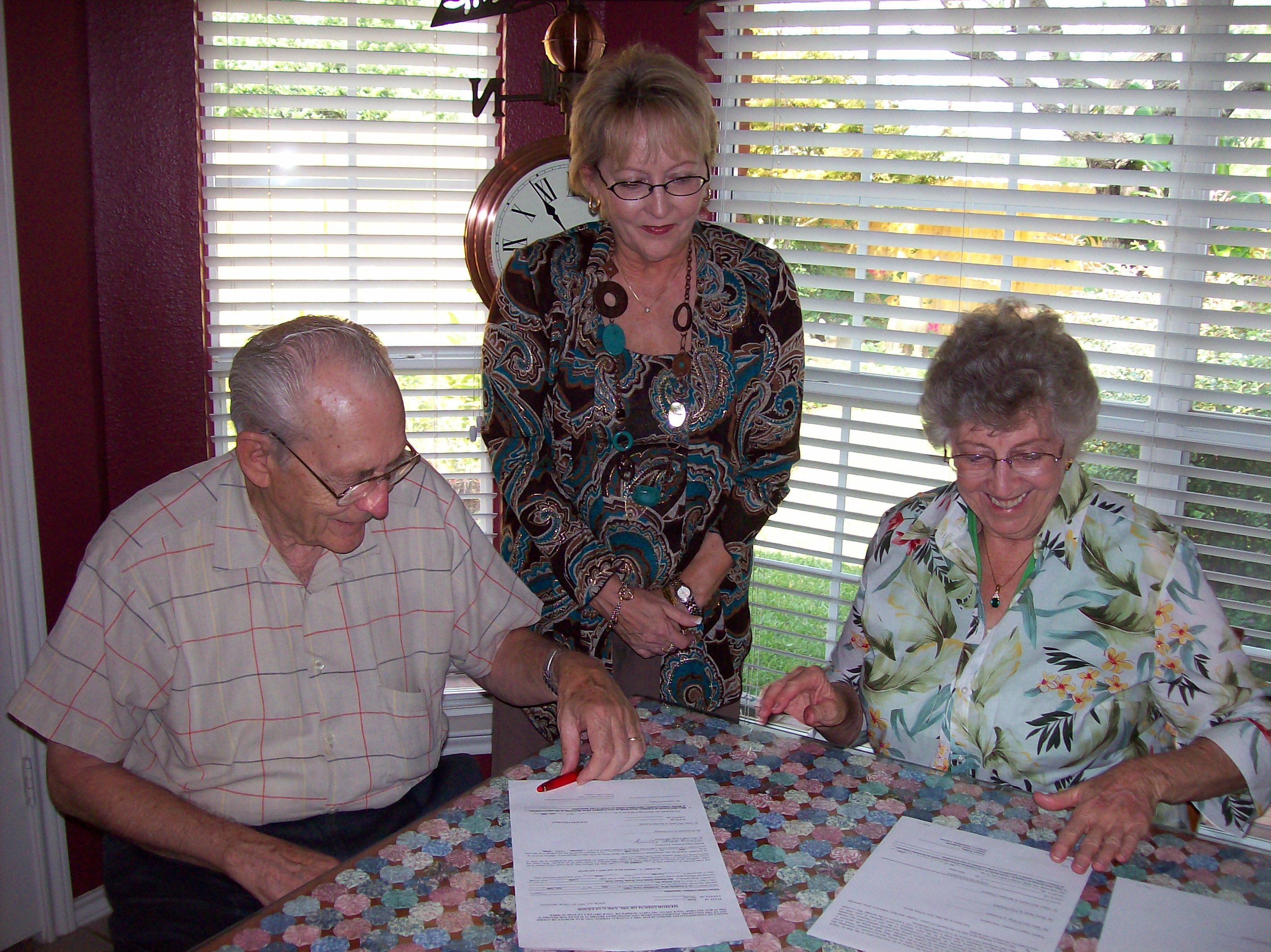 Oil Lease Signing 2009